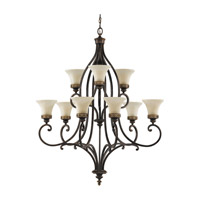 Feiss Drawing Room 9 Light Chandelier in Walnut F2225/6+3WAL