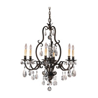 Salon Maison 6 Light 29 inch Aged Tortoise Shell Chandelier Ceiling Light