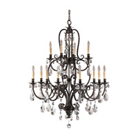 Feiss F2229/8+4ATS Salon Maison 12 Light 37 inch Aged Tortoise Shell Chandelier Ceiling Light