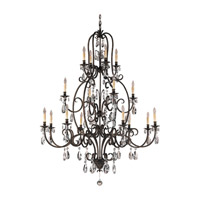 Feiss Salon Maison 16 Light Chandelier in Aged Tortoise Shell F2230/8+4+4ATS