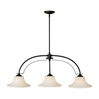 Barrington 3 Light 44 inch Oil Rubbed Bronze Billiard Light Ceiling Light
