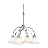 Barrington 4 Light 26 inch Brushed Steel Chandelier Ceiling Light