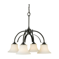 Feiss Barrington 4 Light Chandelier in Oil Rubbed Bronze F2251/4ORB