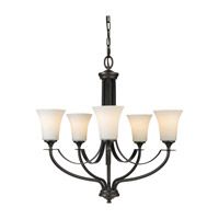 Feiss Barrington 5 Light Chandelier in Oil Rubbed Bronze F2252/5ORB