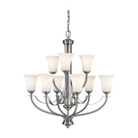 Feiss Barrington 9 Light Chandelier in Brushed Steel  F2253/6+3BS