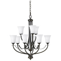 Feiss F2253/6+3ORB Barrington 9 Light 29 inch Oil Rubbed Bronze Chandelier Ceiling Light