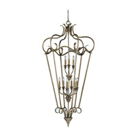 Feiss Smokey Topaz 9 Light Hall Chandelier in Moonshadow F2264/9MSH