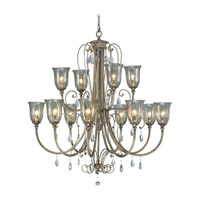 Feiss Smokey Topaz 12 Light Chandelier in Moonshadow F2265/8+4MSH photo thumbnail