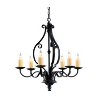Feiss Kings Table 6 Light Chandelier in Antique Forged Iron F2275/6AF photo thumbnail