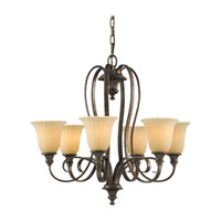 Feiss Somerset 6 Light Chandelier in British Bronze F2280/6BRB