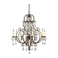 Chateau 8 Light 32 inch Mocha Bronze Chandelier Ceiling Light