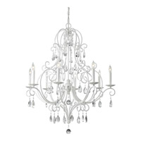 Chateau Blanc 8 Light 32 inch Semi Gloss White Chandelier Ceiling Light