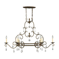 Chateau 6 Light 22 inch Mocha Bronze Chandelier Ceiling Light