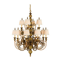Feiss Florentine Dome 12 Light Chandelier in Firenze Gold F2327/8+4FG photo thumbnail