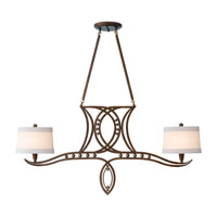 Feiss Hollywood Palm 2 Light Chandelier in Urban Gold F2340/2UGD photo thumbnail