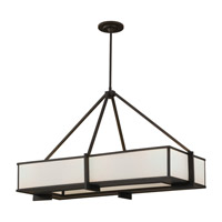Feiss Stelle 6 Light Linear Chandelier in Oil Rubbed Bronze F2400/6ORB