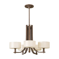 Feiss Sunset Drive 5 Light Chandelier in Corinthian Bronze F2405/5CB