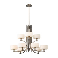 Feiss Sunset Drive 9 Light Chandelier in Brushed Steel F2406/6+3BS photo thumbnail