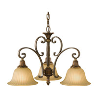 Feiss Kelham Hall 3 Light Chandelier in Firenze Gold and British Bronze F2419/3FG/BRB photo thumbnail