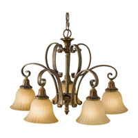 Feiss Kelham Hall 5 Light Chandelier in Firenze Gold and British Bronze F2421/5FG/BRB