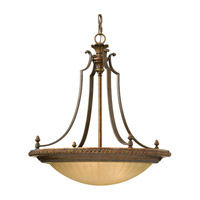 Feiss Kelham Hall 4 Light Chandelier in Firenze Gold and British Bronze F2422/3FG/BRB photo thumbnail