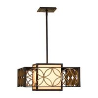 Remy 2 Light 21 inch Heritage Bronze and Parissiene Gold Pendant Ceiling Light