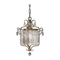 Feiss Gianna 1 Light Mini-Chandelier in Gilded Silver F2473/1GS-F