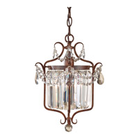 Feiss Gianna Scuro 1 Light Mini-Chandelier in Mocha Bronze F2473/1MBZ-F
