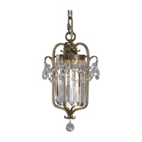 Feiss F2474/1GS Gianna 1 Light 8 inch Gilded Silver Mini Chandelier Ceiling Light in Standard