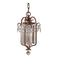 Feiss Gianna Scuro 1 Light Mini-Chandelier in Mocha Bronze F2474/1MBZ-F