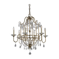 Feiss Gianna 6 Light Chandelier in Gilded Silver F2475/6GS