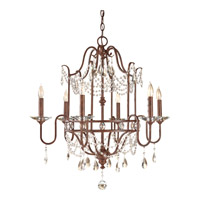 Gianna Scuro 6 Light 26 inch Mocha Bronze Chandelier Ceiling Light