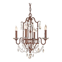 Feiss Gianna Scuro 4 Light Mini Chandelier in Mocha Bronze F2476/4MBZ