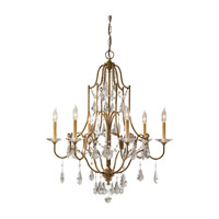 Feiss Valentina 6 Light Chandelier in Oxidized Bronze F2478/6OBZ photo thumbnail