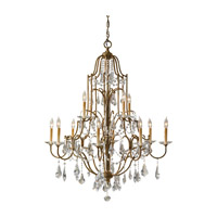 Feiss F2479/8+4OBZ Valentina 12 Light 37 inch Oxidized Bronze Chandelier Ceiling Light