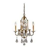Valentina 4 Light 16 inch Oxidized Bronze Mini Chandelier Ceiling Light