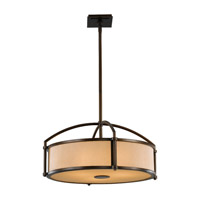 Feiss Preston 3 Light Chandelier in Heritage Bronze F2489/3HTBZ