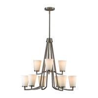 Feiss Tribeca 9 Light Chandelier in Brushed Steel F2502/6+3BS