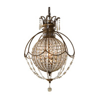 Feiss F2504/3OBZ/BRB Bellini 3 Light 18 inch Oxidized Bronze and British Bronze Chandelier Ceiling Light