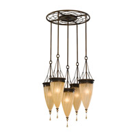 Feiss Trinity 5 Light Chandelier in Astral Bronze F2528/5ASTB photo thumbnail