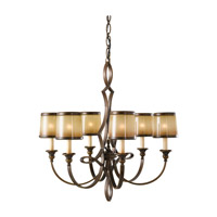 Justine 6 Light 28 inch Astral Bronze Chandelier Ceiling Light