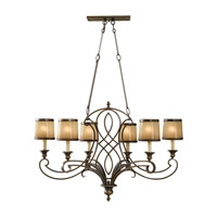 Justine 6 Light 19 inch Astral Bronze Chandelier Ceiling Light