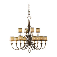 Feiss Justine 12 Light Chandelier in Astral Bronze F2531/8+4ASTB photo thumbnail