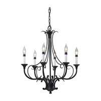 Peyton 6 Light 24 inch Black Chandelier Ceiling Light