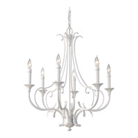 Peyton Saltspray 6 Light 24 inch Semi Gloss White Chandelier Ceiling Light