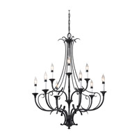 Feiss Peyton 9 Light Chandelier in Black F2534/6+3BK