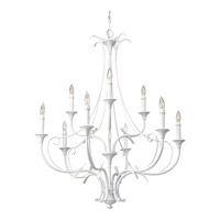 Feiss Peyton Saltspray 9 Light Chandelier in Semi Gloss White F2534/6+3SGW