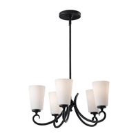 Feiss Peyton 5 Light Chandelier in Black F2535/5BK