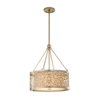 Feiss Arabesque LED Pendant in Silver Leaf Patina F2537/4SLP-LA