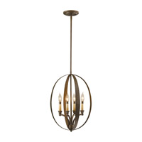 Feiss Kinsey 4 Light Hall Chandelier in Corinthian Bronze F2539/4CB